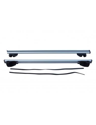Horizontal car roof rack for kayaks